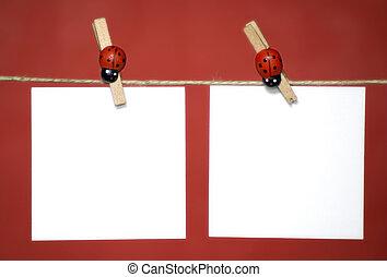 2 blank memo sheets