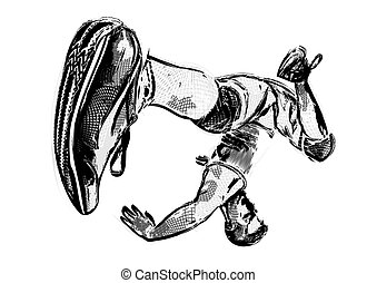 2, breakdancer, illustrazione