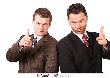 senior and junior - 2 business men - senior and junior, ...