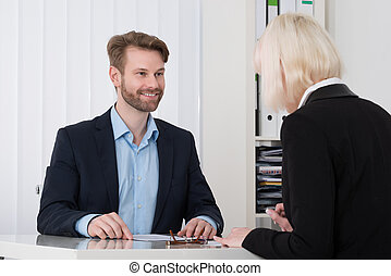 2, businesspeople, 持つこと, 会話