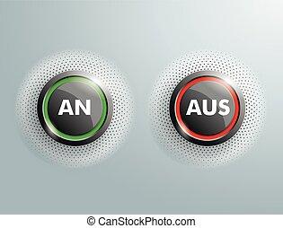 2 Buttons An Aus