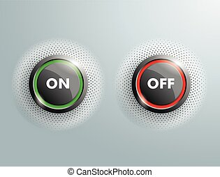 2 Buttons Business On OFF Halftone