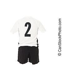 2, camicia, football, numero