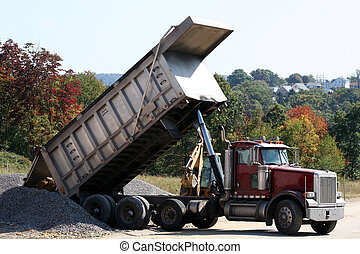 2, caminhão, entulho