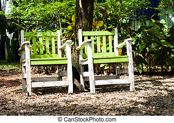 2 chairs in the garden