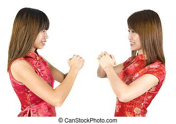 2 chinese new year girl