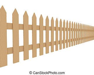 2, clôture bois