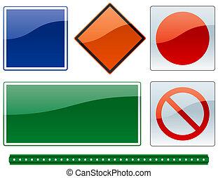 2, commun, panneaux signalisations