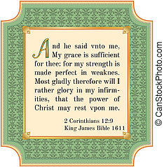 Bible verse about God's grace. King James version, 1611