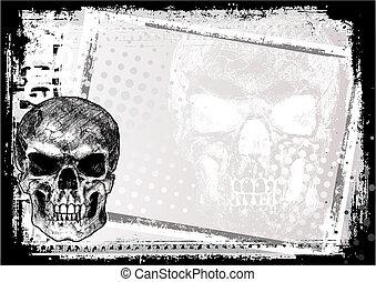 2, cranio, fondo