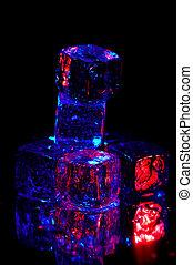 2, cubes glace