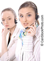 2 customer service representatives