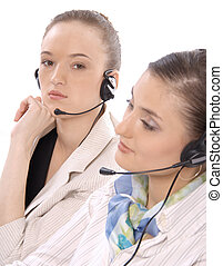 2 customer service representatives