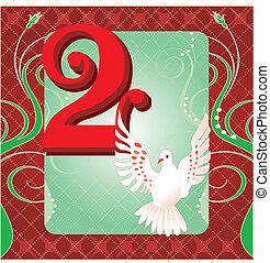 2, día, navidad