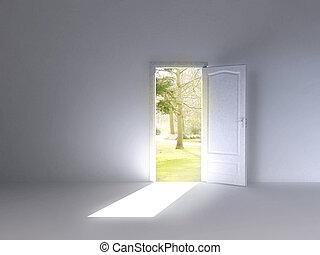 2, deur, natuur