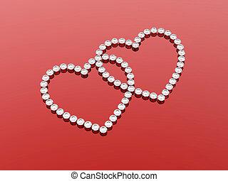 2 diamonds hearts stones