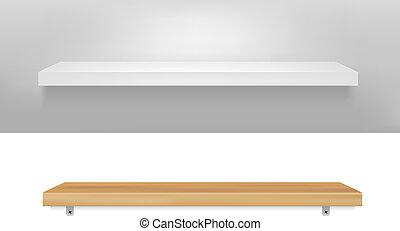 2 Empty Shelf, Vector Illustration