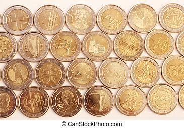 2, euro, érmek