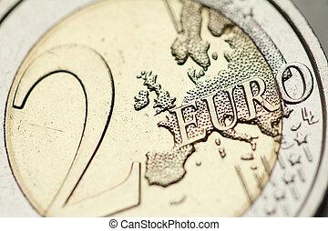 2 euro coin detail