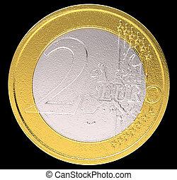 2 Euro: EU currency coin
