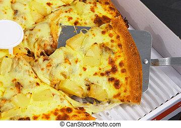 2, fatia, pizza