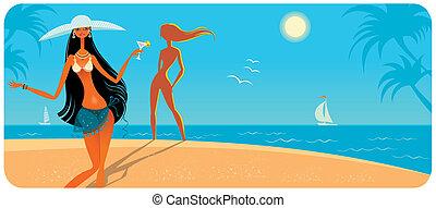 2., filles, vacances