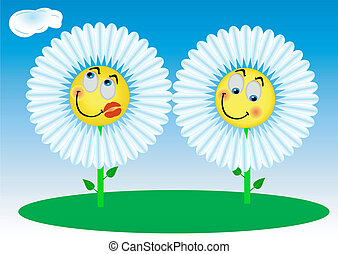 2 Funny flowers
