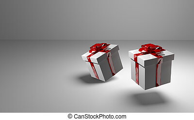 2 gift boxes 3d render