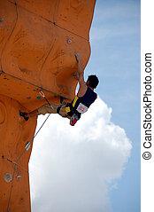 2, grimpeur, rocher
