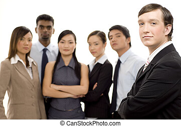 2, grupa, lider, handlowy