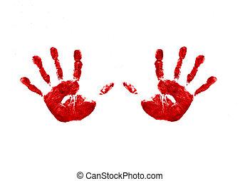 2, handprints