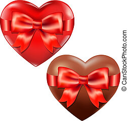 Hearts With Red Bow