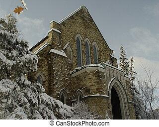 2, hiver, église