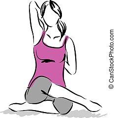 2, illustratie, fitness