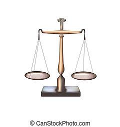 2, -, isolé, balances