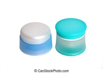 2, jarro, cosméticos