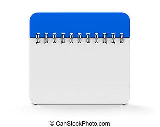 #2, kalender, spirale, ikone
