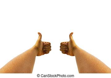 2, kciuki do góry
