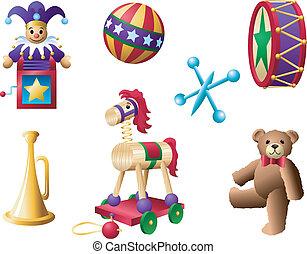 2, klassisk, toys