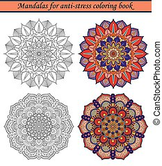 2, libro colorear, anti-stress, mandalas