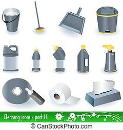 2, limpeza, ícones