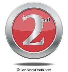 2, lugar, plata, icono