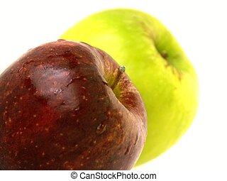 2, maçãs
