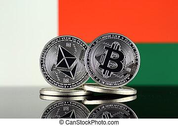 2, madagascar, términos, flag., (btc), bitcoin,...