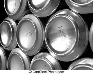 2, metal, latas