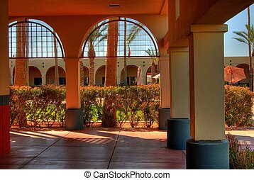 2, modern, schule, campus