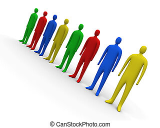 #2, multicolor, pessoas