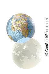 2, mundo, globos