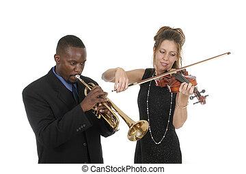 2, musikere, spille