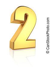 2, número, 3d